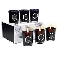 Scented Candles Gift Set, Natural Soy Wax 4.4 Oz Portable Travel Tin Candles Women Gift with Strongly Fragrance Essential Oils for Aromatherapy Gift for Valentine's Day Mother's Day- 4 Pack