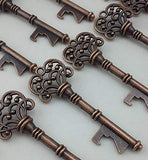 50pcs Wedding Favors Skeleton Key Bottle Opener with Escort Tag Card
