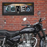 "Personalized Motorcycle Name Art - Harley, Indian and Honda (9.5""x26"" Block Mount)"
