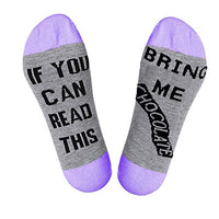 akiido If You Can Read This Please Bring Me a Beer Wine Coffee Pizza Socks Funny Saying Knitting Socks