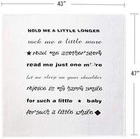 Annlaite Baby Muslin Swaddle Blankets with Quote Receiving Blanket for Newborn Boy and Girl Personalized Baby Gifts