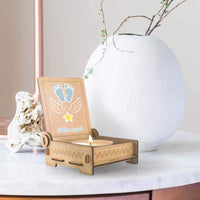 Trost LICHT Baby Loss Candle, miscarriage Comfort Candle for Angel Babies in Wooden Box, Loss of Baby Sympathy Gift, Angel (Blue)