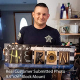 "Law Enforcement Officer - Personalized Leo Police Name Art (6.5""x18"" Block Mount)"