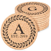 "Personalized Cork Trivet Custom Gift - (2) 7"" Hot Pads - Customizable Housewarming Trivets with Home Design for Hot Dishes, Pots, Pans, Baking Sheets, Hot Plates for Table, Countertop, Kitchen"