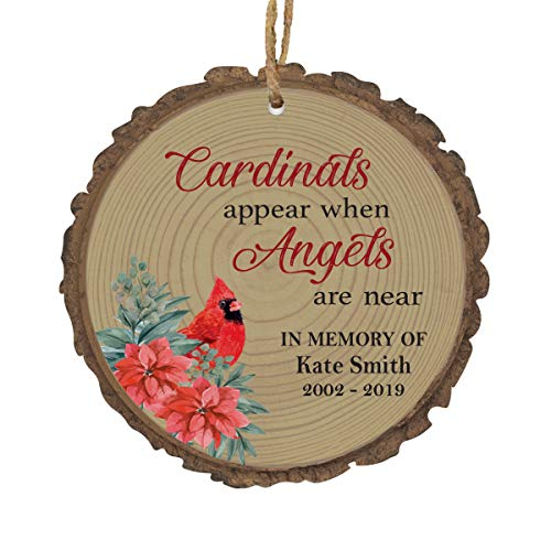 "LifeSong Milestones Personalized Memorial Remembrance Christmas Tree Bark Style Ornament Bereavement Sympathy Holiday Keepsake - Loss of Loved One Decoration Gift - 3.75"" (Someone We Love)"
