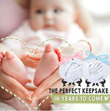 Baby Handprint Footprint Ornament Keepsake Kit - Personalized Baby Prints Ornaments For Newborn - Baby Nursery Memory Art Kit - Baby Shower Gifts For Baby Registry Boys Girls - Christmas Gift Ornament