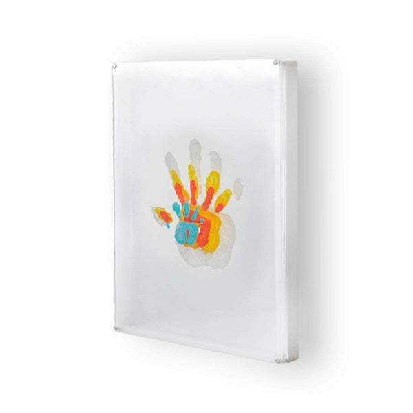 Cherry Cheers Family Handprint and Paint Craft Kit DIY Baby Keepsake Frame, All Transparent Layers Non-Toxic Paints