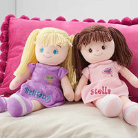 Personalized Dibsies Butterfly Snuggle Doll - 15 Inch (Blonde)