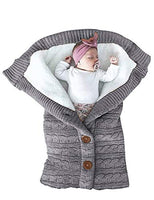 XMWEALTHY Unisex Infant Swaddle Blankets Soft Thick Fleece Knit Baby Girls Boys Stroller Wraps Baby Accessory Grey