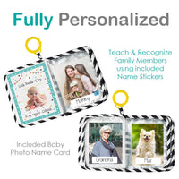 Urban Kiddy™ Baby's My First Family Album | Soft Photo Cloth Book Gift Set for Newborn Toddler & Kids (Giraffe)
