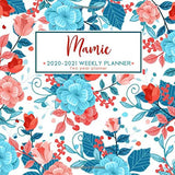 Mamie 2020 - 2021 Weekly Planner | Two Year Planner: Personalized Name Planner Floral Print Calendar