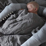 Caramel Macchiato Crocodile Crib Bumper Cartoon Nursery Cradle Decor Baby Gift Pillow Cushion