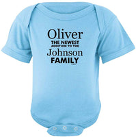 Baby Gifts For All Personalized New Baby Name Family Custom Bodysuit