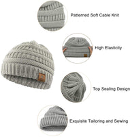 Durio Beanie Winter Baby Beanies Knitted Beanie Hat Thick Warm Baby Boy Hats Baby Gifts Fall Toddler Beanie