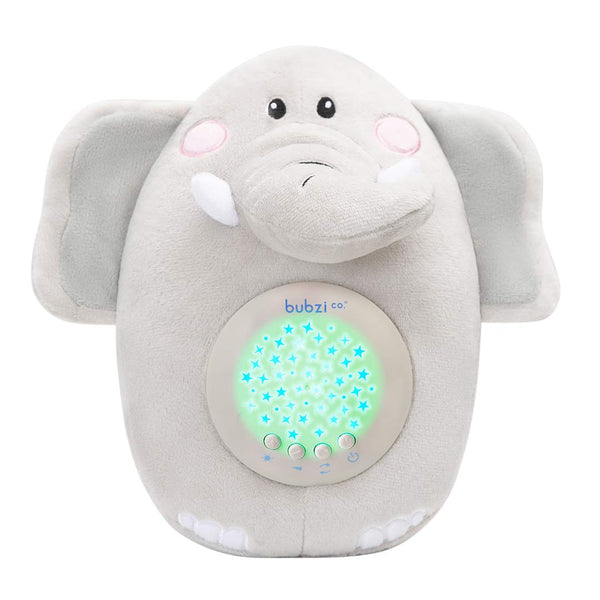 Bubzi Co Baby Toys Elephant White Noise Sound Machine, Toddler Sleep Aid Night Light, Unique Baby Girl Gifts & Baby Boy Gifts, Baby Shower Gifts, Portable Baby Soother, New Baby Gift, Gender Neutral