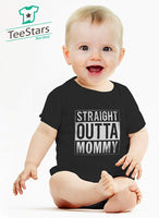 Tstars Straight Outta Mommy Infant Gift for New Mom Funny Cute Unisex Baby Bodysuit