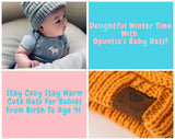 Opuntia Winter Warm Christmas Baby Hats - Knit Soft Beanies Cozy Cute Infant Toddler Caps Gift for Boys and Girls