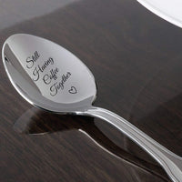 Still Having Coffee Together - Friendship Gift - Love - mine - valentine - gift for him - Gift for Friends Who Are Moving Away - steeliness steel Spoon with Messages by Boston Creative Company LLC