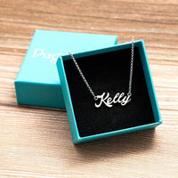JewelryJo 925 Sterling Silver Personal Customized Name Necklace Semi-Custom Made Personalized Gift for Girls Granddaughter Women 18 Inch Chain
