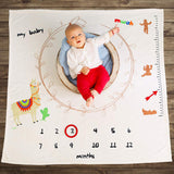 Baby Mwah Premium Monthly Milestone Blanket | Unique for Shower Gifts & Photography Newborn Props | Unisex Personalized Blankets for Boy & Girl | Custom Month Pictures + Gift: 12 Months Photo Banner