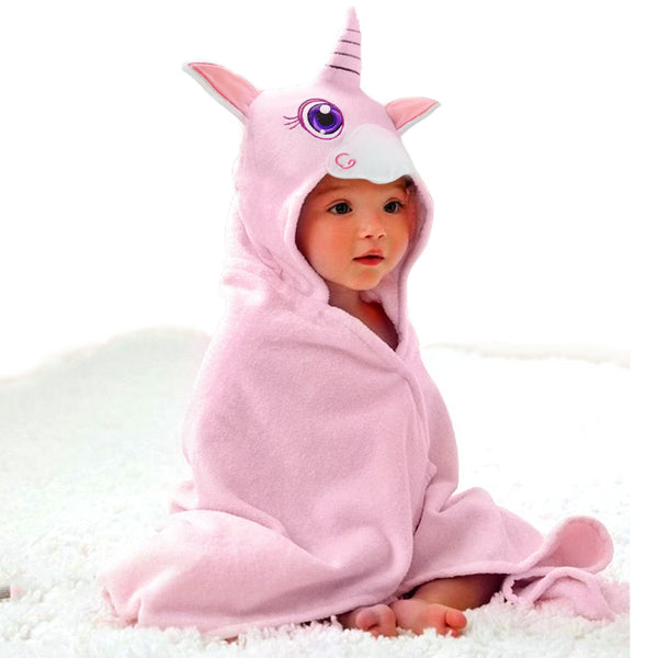 Baby Hooded Towel Upsimples Unicorn Baby Towels for Baby Girls 35 × 35 Inches Ultra Large 500GSM Super Soft Organic Bamboo Baby Towels for Baby Infant Toddler | Baby Girl Shower Gift Photo Shoot Props