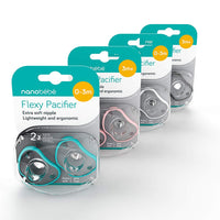 Nanobebe Pacifiers 0-3 Month - Orthodontic, Curves Comfortably with Face Contour, Award Winning for Breastfeeding Babies, 100% Silicon - BPA Free. Perfect Baby Registry Gift 2pk,Teal