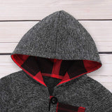 Infant Toddler Boys Girls Sweatshirt Set Winter Fall Clothes Outfit 0-3 Years Old,Baby Plaid Hooded Tops Pants
