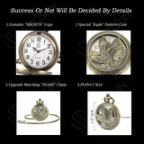 Personalized Pocket Watch Engraved 'Class of 2019' College Graduation Gift for Son - SIBOSUN Eagle Scout