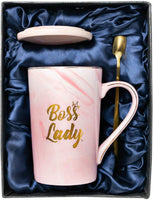 Coffee Mugs For Women, Boss Lady Gifts For Women, Birthday Gifts For Mom, Retirement Gifts For Women, Office Decor for Women Desk, Rose Gold Decor, Funny Gifts For Women, Unique Gifts For Women