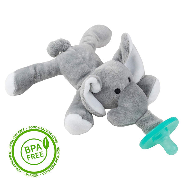 BabyLUV'S - Elephant Stuffed Animal Pacifier Holder| Baby Pacifier, Newborn White Elephant Gifts | Stuffed Elephant |Newborn Toys | Teething Toys | soothie Pacifier | Elephant Plush Toy| Baby Toy