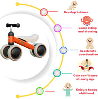 Avenor Baby Balance Bike - Baby Bicycle for 6-24 Months, Sturdy Balance Bike for 1 Year Old, Perfect as First Bike or Birthday Gift, Safe Riding Toys for 1 Year Old Boy Girl Ideal Baby Bike