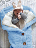 XMWEALTHY Unisex Infant Swaddle Blankets Soft Thick Fleece Knit Baby Girls Boys Stroller Wraps Receiving Blanket Light Blue