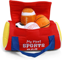 GUND Baby My First Sports Bag Stuffed Plush Playset, 5 Piece, 8""