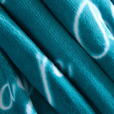 Fuzzy Blanket, Throw Blanket, Fleece Blanket, Plush Blanket, Fluffy Blanket, Get Well Gifts, Sympathy Gift, Birthday Gifts for Women, for Womens(Throw, Teal)