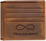 Engraved Personalized Wallet For Men - Gift For Boyfriend, Husband