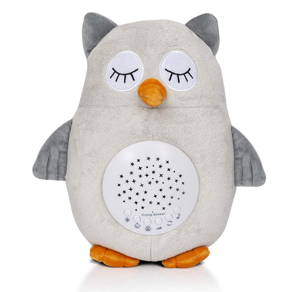 Cry Detector Plush, Lullabies and White Noise Machine Baby Light Projector on Ceiling, Crib Soother Part of Baby Necessities and Baby Registry Items