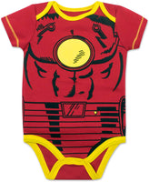 Marvel Baby Boys' 5 Pack Bodysuits - The Hulk, Spiderman, Iron Man and Captain America