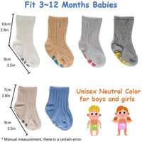 Baby Socks Gift Set, Shower Gifts Newborn Funny Present, 6 Pair, For 0-12 Months
