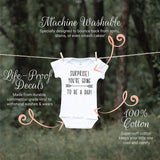 Bump and Beyond Designs New Dad Suprise Pregnancy Announcement Newborn Bodysuit