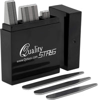Metal Collar Stays - Set of 40 Collar Stays, 3 Sizes in a Divided Box, by Quality Stays