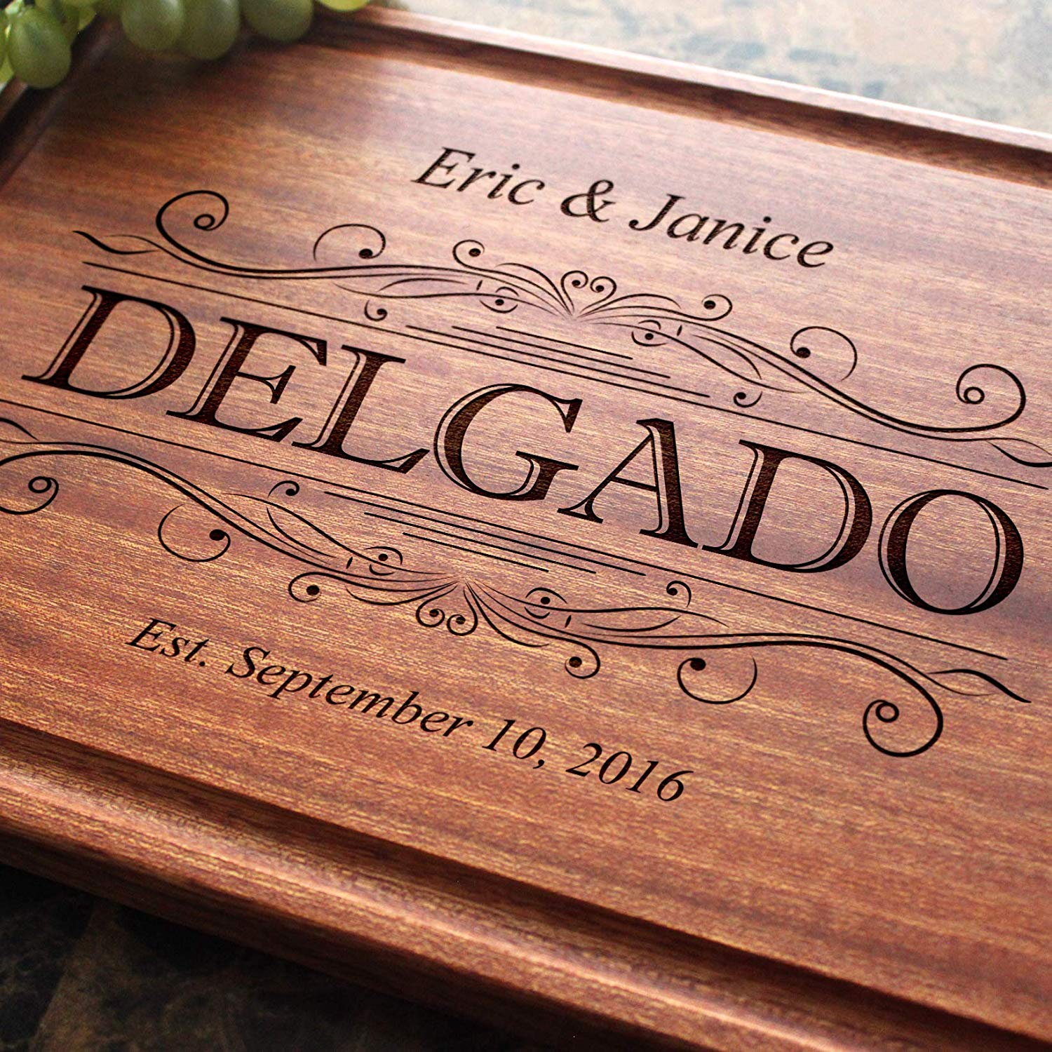 Personalised Anniversary Laser Engraved Chopping BoardWedding Gifts