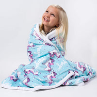 Cuddle & Cozy Premium Unicorn Sherpa Blanket for Kids Girls Boys and Babies, Super Soft Plush Fleece Throw, 50 in x 60 in, Vibrant Unicorn Blanket