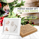 Baby Handprint Footprint Keepsake Kit - Baby Prints Photo Frame for Newborn - Baby Nursery Memory Art Kit Frames - Baby Shower Picture Frames for Baby Registry Boys,Girls - Perfect Christmas Gift
