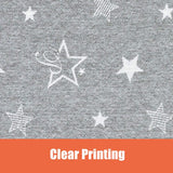 Organic Cotton Toddler Blanket Throw 39x39, Crib Bed Baby Blanket, Grey Starry