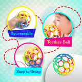Baby Gift Set - Cloth Soft Crinkle Baby Book & Ball Soft Teething Educational Toys, Infant Newborn Toddler Baby Girls Boys 6 to 12 Month, 1 Year Old, Tummy Time, Best Baby Shower Gift Christmas Gift