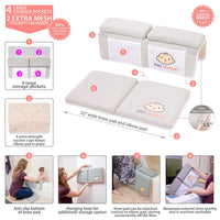 Bath Kneeler with Elbow pad Rest Set- Padded Knee mat for tub Bathing and Bathroom time. Bathtub Kneeling Waterproof Cushion mats for Infant or Baby Toy Accessories. Bathtime Knee Saver. Shower Gift.