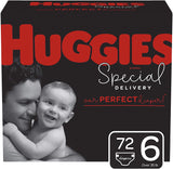 Huggies Special Delivery Hypoallergenic Diapers, Size 6 (35+ lb.), 72 Ct, One Month Supply