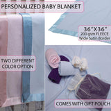 Personalized Baby Blankets Newborn Gifts for Boys, Girls Nursery Décor with Moon Design and Name 3 Options D10