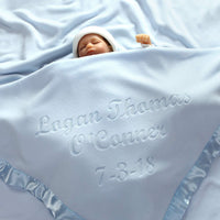 Custom Catch Personalized Baby Blankets (Multiple Text Lines), Boys or Girls Gifts