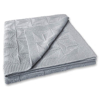 Zeke and Zoey Soft 100% Cotton Knit Grey Baby Blanket for Girls or Boys – Unisex, for Infant, Newborn, Toddler and Kids for Crib, Stroller, car, Receiving or Swaddle Blanket